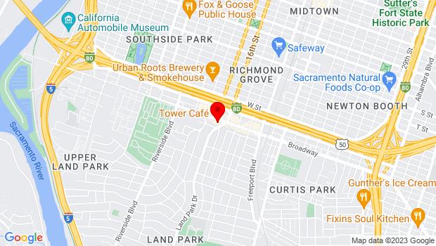 Google Map of 2508 Land Park Drive, Sacramento, CA 95818