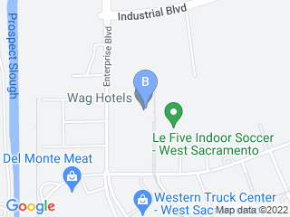 Map of Wag Hotels Dog Boarding options in West Sacramento | Boarding