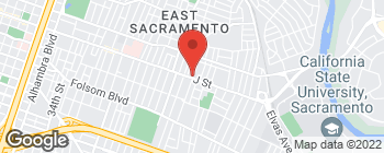 Map of 4765 J St in Sacramento