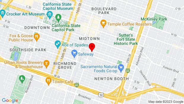 Google Map of 2114 P Street, Sacramento, CA 95816