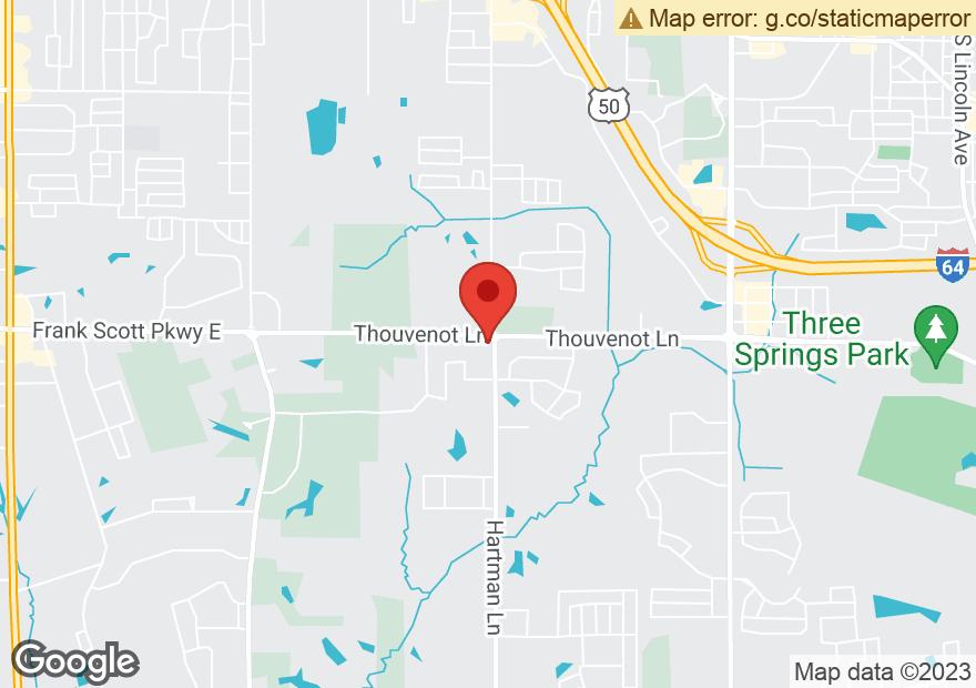 Google Map of 1108 HARTMAN LN