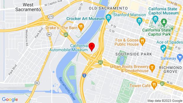 Google Map of 2200 Front Street, Sacramento, CA 95818