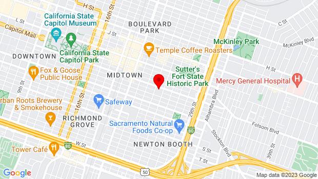 Google Map of 2420 N St, Sacramento, CA 95816
