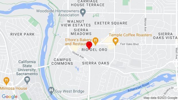 Google Map of 2330 Fair Oaks Blvd., Sacramento, CA 95825