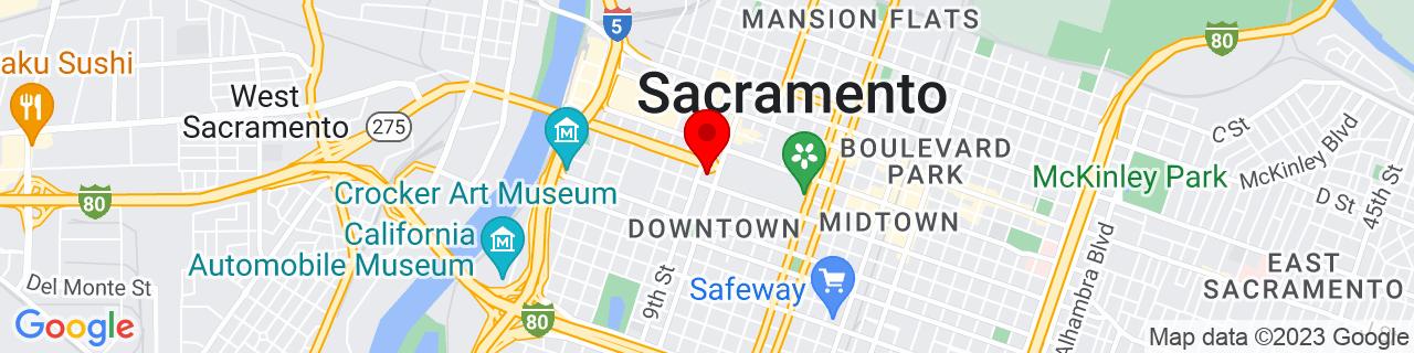 Google Map of 38.5765407, -121.4958904