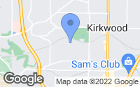 Map of Kirkwood, MO