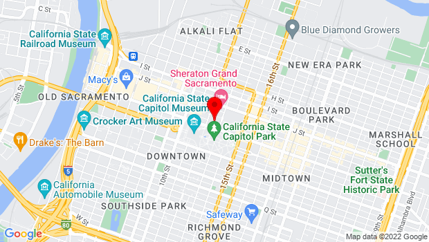 Google Map of 1209 L Street, Sacramento, CA 95814