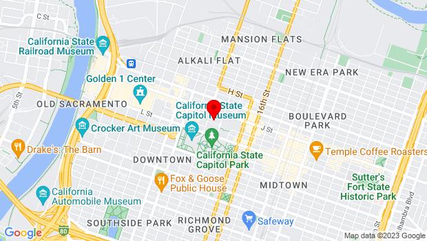 Google Map of 1211 K Street, Sacramento, CA 95814