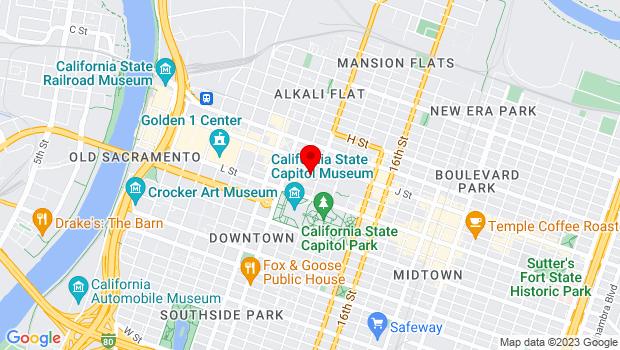 Google Map of 1017 11th Street, Sacramento, CA 95814