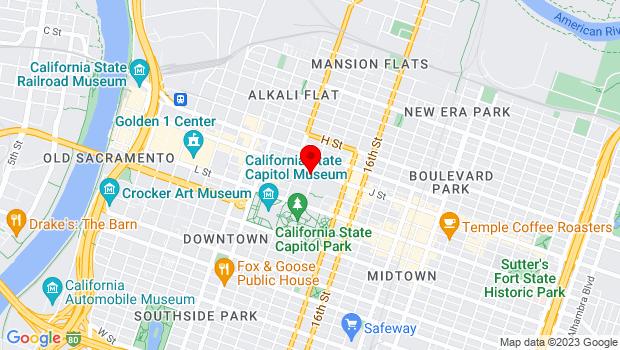 Google Map of 1230 J Street , Sacramento, CA 95814