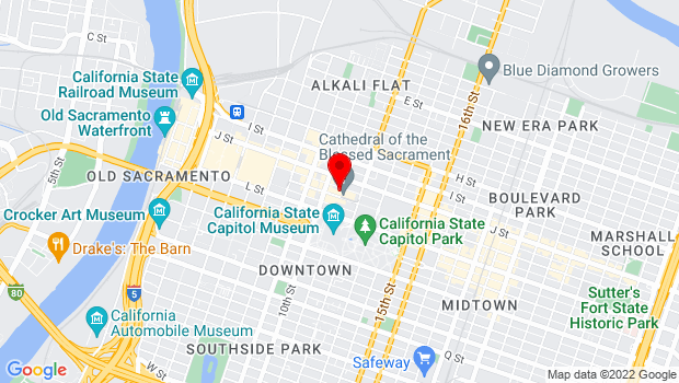 Google Map of 1020 11th St., Sacramento, CA 95814