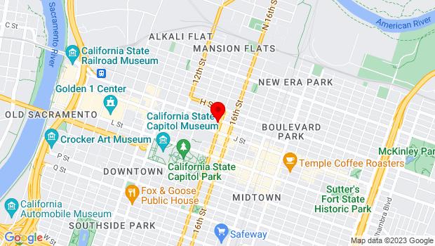 Google Map of 904 15th Street , Sacramento, CA 95814