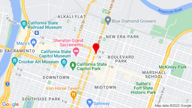 Google Map of 817 16th St., Sacramento, CA 95814
