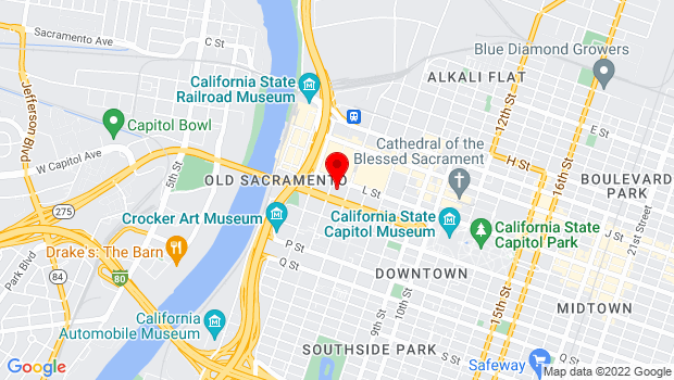Google Map of 410 L Street, Sacramento, CA 95814