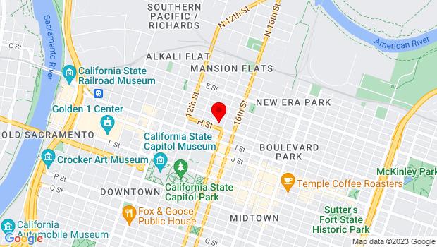 Google Map of 1419 H St., Sacramento, CA 95814