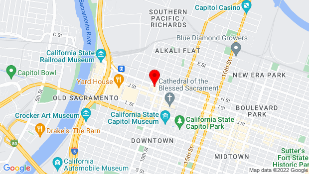 Google Map of 828 I Street, Sacramento, CA 95814
