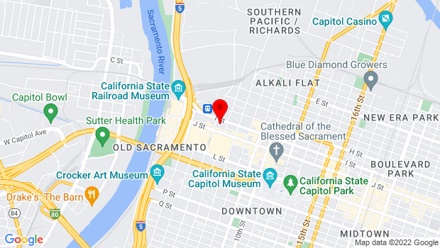 Google Map of 500 J Street, Sacramento, CA 95814