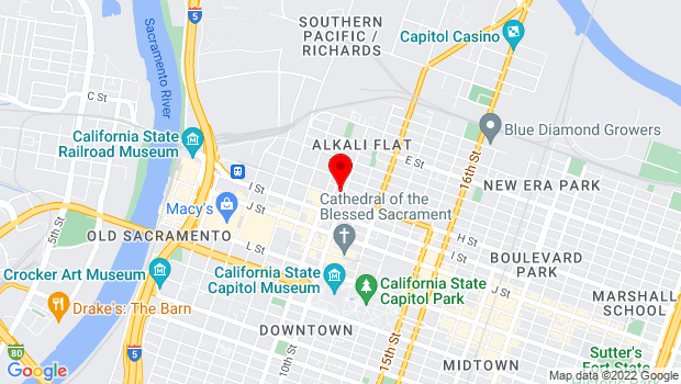 Google Map of 925 H Street, Sacramento, CA 95814