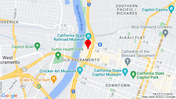 Google Map of 1002 2nd Street, Sacramento, CA 95814