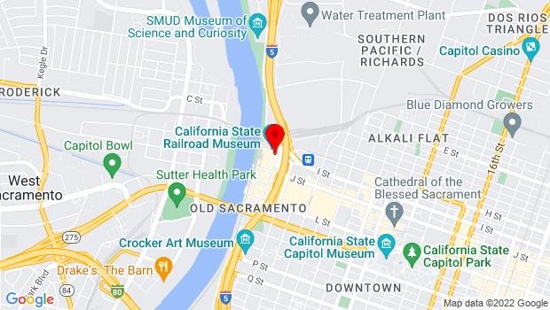 Google Map of 125 I Street, Sacramento, CA 95814