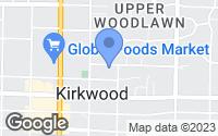 Map of Kirkwood, MO
