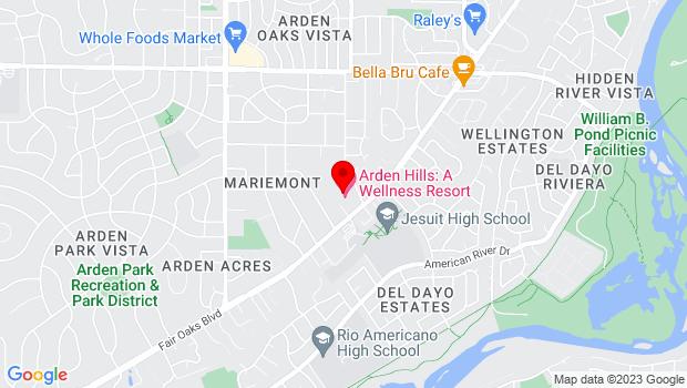 Google Map of 1220 Arden Hills Lane, Sacramento, CA 95864