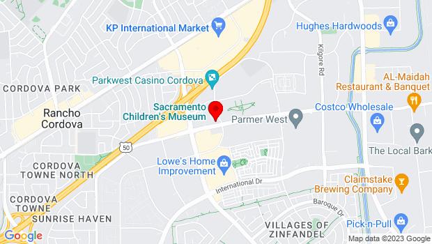 Google Map of 2701 Prospect Park Drive, Rancho Cordova, CA 95670