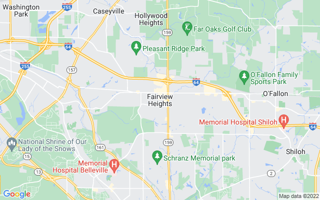 Fairview heights on the map