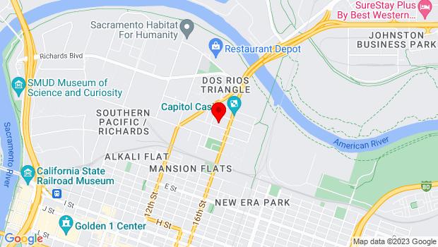 Google Map of 1501 North C Street, Sacramento, CA 95811