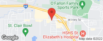 Map of 1321 W Highway 50 in O Fallon