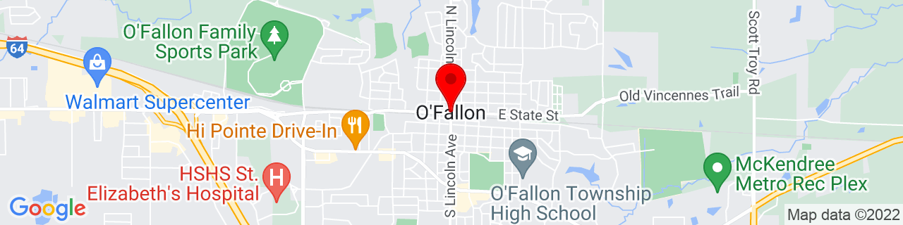 Google Map of 38.592323, -89.910991