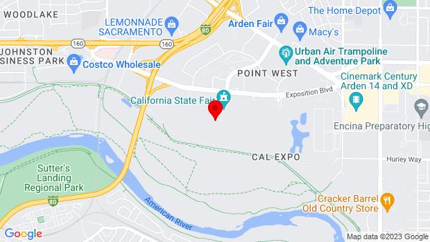 Google Map of 1600 Exposition Blvd, Sacramento, CA 95815