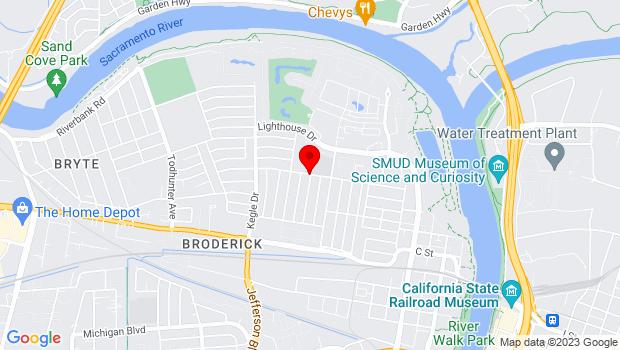 Google Map of 820 Cummins Way, West Sacramento, CA 95605