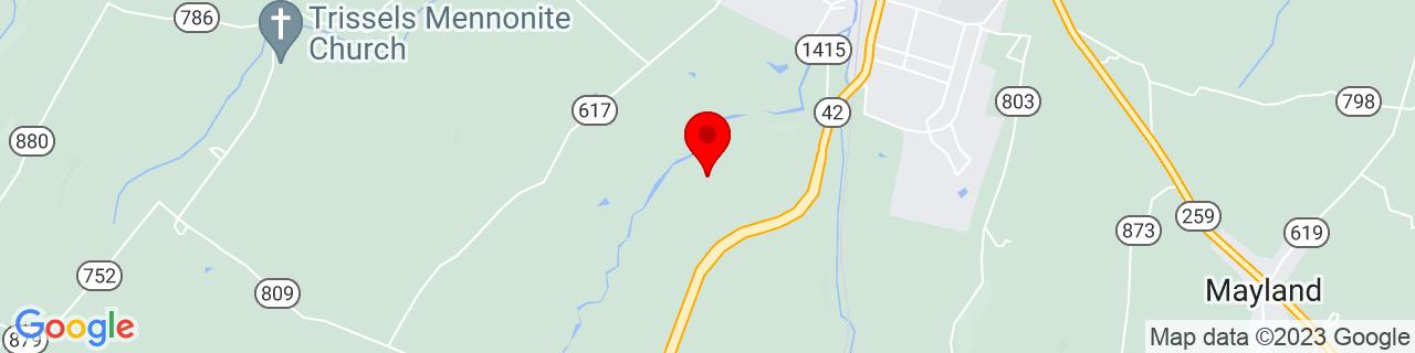 Google Map of 38.5952329, -78.8145704