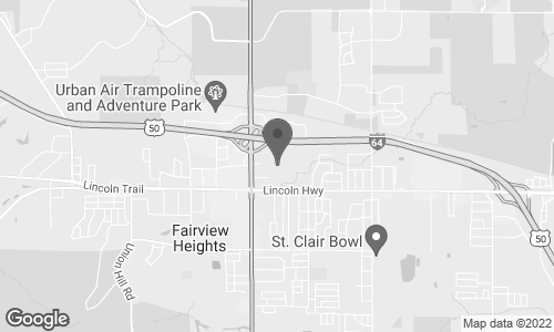 Map of 214 Saint Clair Square in Fairview Heights