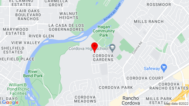 Google Map of 2140 Chase Drive, Rancho Cordova, CA 95670