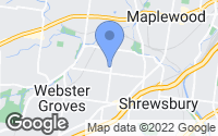 Map of Webster Groves, MO
