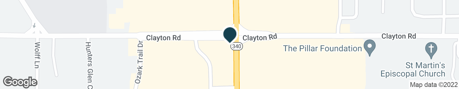 Google Map of1302 CLARKSON CLAYTON CTR