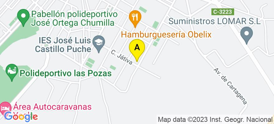 situacion en el mapa de . Direccion: C/ Salzillo nº 34, 30510 Yecla. Murcia