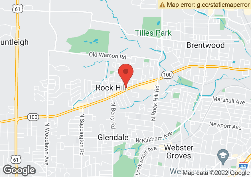 Google Map of 9801 MANCHESTER RD