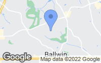 Map of Ballwin, MO