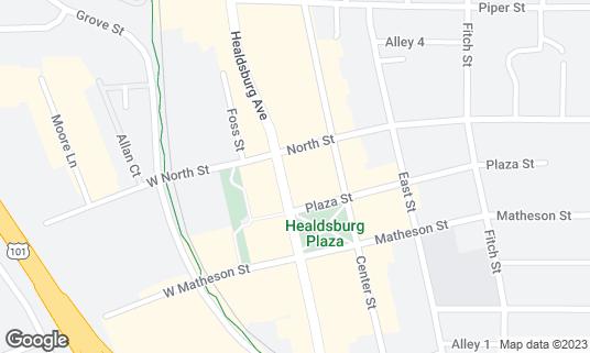 Map of Campo Fina at 330 Healdsburg Ave Healdsburg, CA