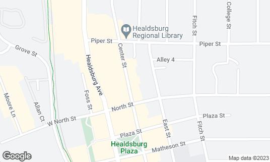 Map of Bravas at 420 Center St Healdsburg, CA