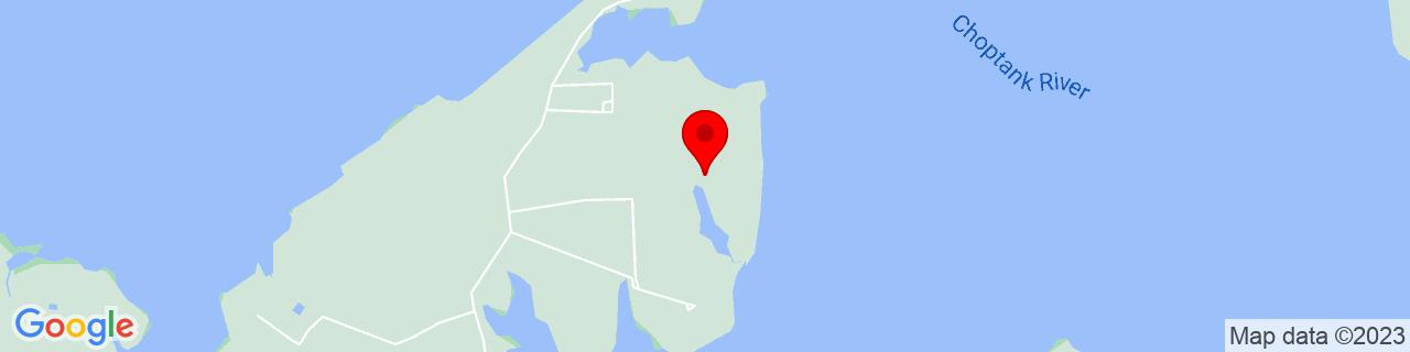 Google Map of 38.615397, -76.1691101