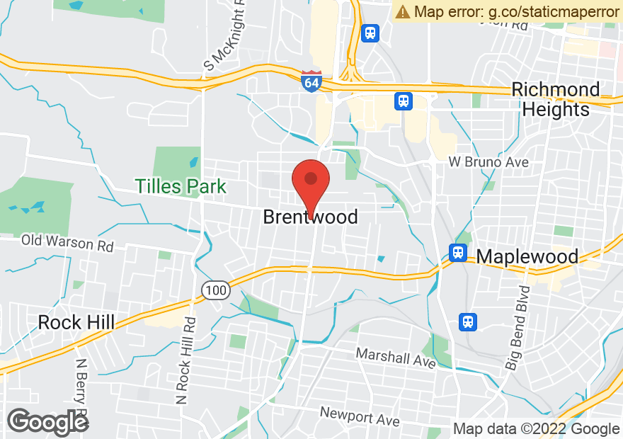 Google Map of 2401 S BRENTWOOD BLVD