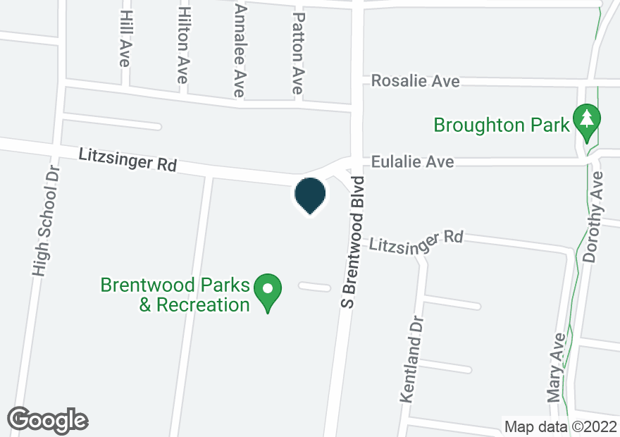 Google Map of2401 S BRENTWOOD BLVD