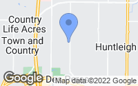 Map of Des Peres, MO
