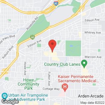 Map of Bed Bath & Beyond at 2725 Marconi Avenue, Sacramento, CA 95821