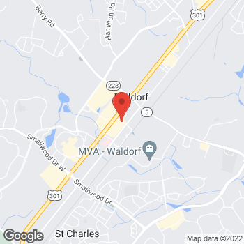 Map of Bed Bath & Beyond at 3270 Crain Highway, Waldorf, MD 20603