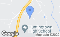 Map of Huntingtown, MD